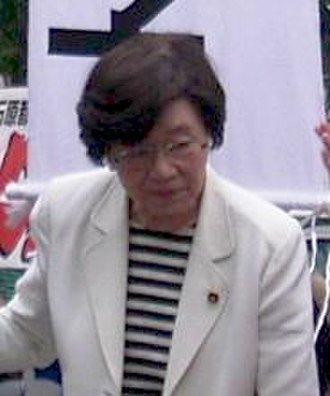Japanese general election, 2000 - Image: Takako Doi in Tokyo congressist election 2