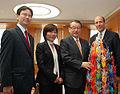 Takashi Kii Yuko Mori Masaharu Nakagawa and John Roos 201110.jpg