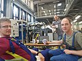 Take a brake – warming up a real scale sliding bearings in progress, preparation for tests in the Gdansk University of Technology Faculty of Ocean Engineering and Ship Technology (Poland) laboratory.jpg