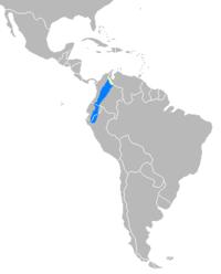 Distribución del Tapirus pichaque