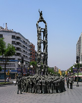 Castell - Castellers monument in Tarragona.