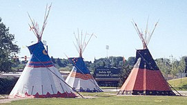 Teepees outside cody museum