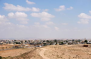 View of Tel as-Sabi from Tel Be'er Sheva