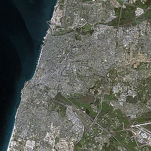 Tel Aviv by SPOT Satellite