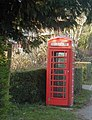 Telephone Box at Spin Hill, Market Lavington - geograph.org.uk - 83631.jpg