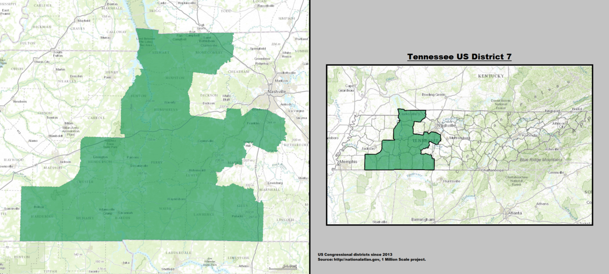 Tennessees Th Congressional District Wikipedia - Tennessee on the us map