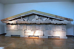 Pediment of the treasury of Megara, Museum of Olympia