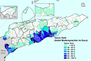 Tetum language Austronesian language spoken on the island of Timor