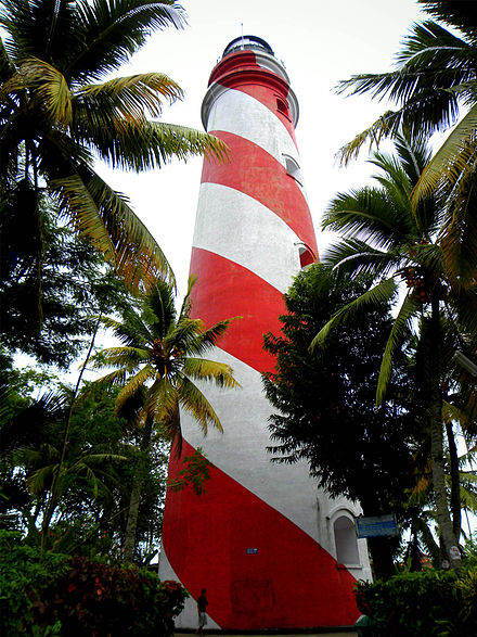 Tangasseri Lighthouse in Kollam city. This is the tallest lighthouse in Kerala state which is actually built by the British in 1902 - Tourism in Kerala