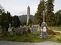 The Cathedral as seen from the Graveyard Glendalough.jpg