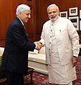 The Chief Minister of Jammu & Kashmir, Shri Mufti Mohammad Sayeed calling on the Prime Minister, Shri Narendra Modi, in New Delhi on April 07, 2015.jpg