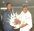 The Chief Minister of Kerala, Shri Oommen Chandy calls on the Union Minister for Shipping, Road Transport & Highways, Shri T.R. Baalu in New Delhi on December 13, 2005.jpg