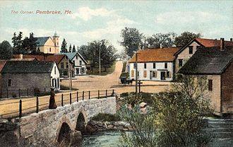 Pembroke, Maine - Union Square c. 1908