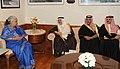 The Culture and Information Minister of Saudi Arabia, Mr. Abdulaziz bin Mohiddin Khoja meeting the Union Minister for Culture, Smt. Chandresh Kumari Katoch, in New Delhi on February 27, 2014 (1).jpg