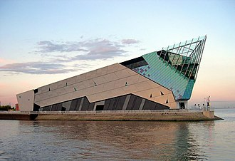 The Deep (aquarium) - The Deep from the west bank of the River Hull