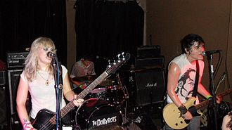 The Dollyrots - From left to right: Kelly Ogden, James Carman, and Luis Cabezas.