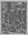 The Massacre of the Innocents (Right side) with group of male figures attacking women and children; classical buildings in the background MET MM8919.jpg