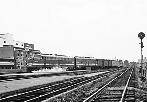 Ohio State Limited - The Ohio State Limited arriving at Dayton Union Station in September 1967, three months before service ended