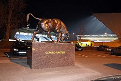 The Ox statue at the Kassam Stadium - geograph.org.uk - 1237338.jpg