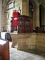 The Parish Church of Broughton St John the Baptist, Pulpit - geograph.org.uk - 866646.jpg