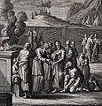 The Phillip Medhurst Picture Torah 536. Means of discerning leprosy. Leviticus cap 13 vv 8-28. Fridrich.jpg