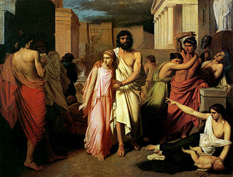 Oedipus Rex - Oedipus and Antigone, by Charles Jalabert.