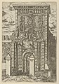 The Porta Galliera, the entrance gate to Bologna and drawbridge with temporary decorations for the entry of Pope Clement VIII in Bologna in 1598 MET DP837824.jpg