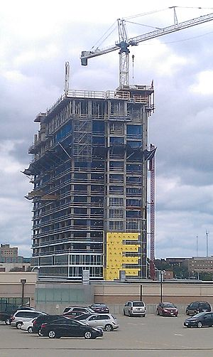 Potawatomi Hotel & Casino - The Potawatomi Casino Hotel under construction