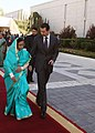 The President, Smt. Pratibha Devisingh Patil escorted by the President of Syrian Arab Republic, Dr. Bashar al Assad, during the Ceremonial Reception, at the Presidential Palace, at Damascus in Syria on November 27, 2010.jpg