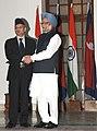 The Prime Minister, Dr. Manmohan Singh meeting the Prime Minister of Nepal, Dr. Baburam Bhattarai, in New Delhi on October 21, 2011 (1).jpg
