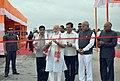 The Prime Minister, Shri Narendra Modi cutting the ribbon on ceremony to dedicate to Nation the Dhola-Sadia Bridge, across River Brahmaputra, in Assam.jpg