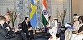 The Prime Minister, Shri Narendra Modi holding bilateral talks with the Prime Minister of Sweden, Mr. Stefan Lofven, at the Make in India Centre, in Mumbai on February 13, 2016 (2).jpg