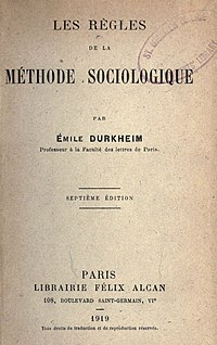 analyzing social types in the rules of sociological method a book by emily durkheim The rules of sociological method durkheim sparknotes new york: free press the rules of sociological method durkheim analysis characterization of social facts in the rules to demonstrate that individualscould explain and predict action if one had the pertinent.
