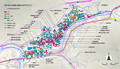 The Scope of ASUKE Preservation District and the Chronological Plot of Traditional Architectures 2019.png