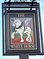 The Sign for the White Horse - geograph.org.uk - 1633610.jpg