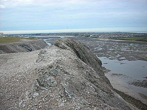 Barrow Hematite Steel Company - A section of the large slag heap in Ormsgill pictured in 2007