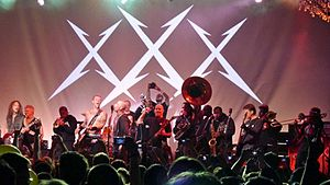 The Soul Rebels - The Soul Rebels playing with Metallica at the Fillmore West in December 2011