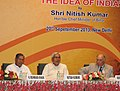 The Union Minister for Minority Affairs, Shri K. Rahman Khan and the Chief Minister of Bihar, Shri Nitish Kumar at the 6th Annual Lecture of National Commission for Minorities (NCM), 2013, in New Delhi on September 20, 2013.jpg