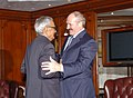 The Vice President, Shri Bhairon Singh Shekhawat meeting with the President of the Republic of Belarus, Mr. Aleksandr Lukashenko, in New Delhi on April 16, 2007.jpg