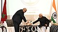 The Vice President, Shri M. Hamid Ansari and the Prime Minister of Morocco, Mr. Abdelilah Benkirane launching the India Morocco Chamber of Commerce and Industry, in Rabat, Morocco on May 31, 2016.jpg