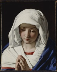 The Virgin praying