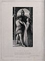The dying Earl Siward clad in armour embraces a young man an Wellcome V0042265.jpg