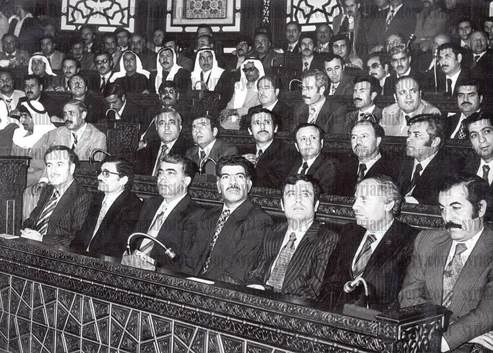 The first innaugaration of President Hafez al-Assad in Parliament - March 1971