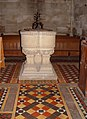 The font, St. Mary's Church, South Dalton - geograph.org.uk - 809492.jpg