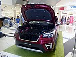 The frontview of Subaru FORESTER Advance (5AA-SKE) whose hood is open.jpg