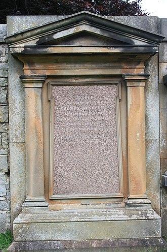 Thomas Mackenzie, Lord Mackenzie - The grave of Thomas Mackenzie, Lord Mackenzie, Dean Cemetery, Edinburgh