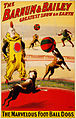 The marvelous foot-ball dogs, poster for Barnum & Bailey, 1900.jpg