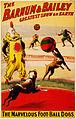 The marvelous foot-ball dogs, poster for Barnum & Bailey, 1900.jpg