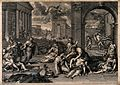 The plague of the Philistines at Ashdod. Engraving by Petit Wellcome V0010573.jpg