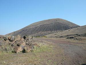 Kula (volcano) - The scoria cone at the Kula Volcano